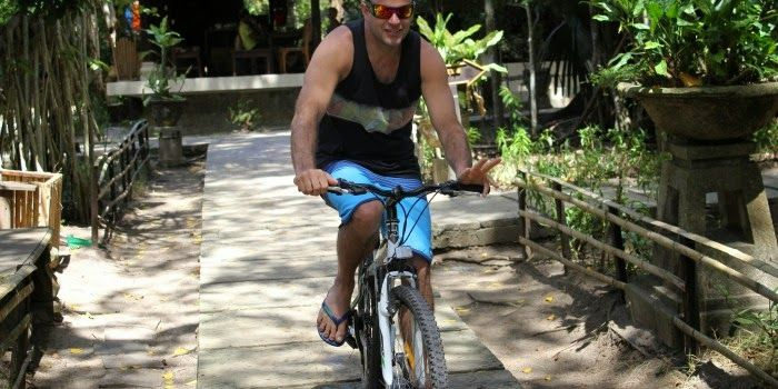 Enjoying Cycling at G-Land :D :D