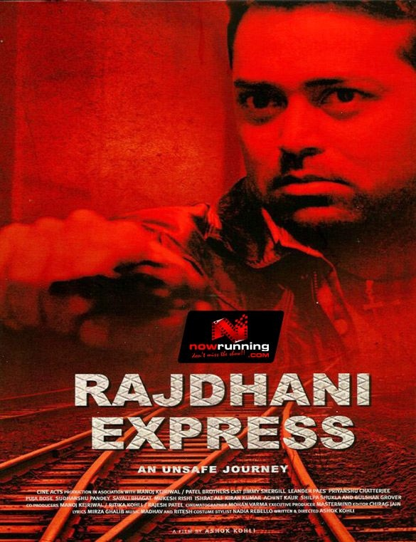 First Look Poster of Rajdhani Express starring Leander Paes & Amisha Patel. Movie info at http://www.nowrunning.com/movie/10008/bollywood.hindi/rajdhani-express/index.htm