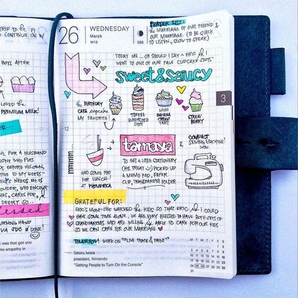 Hobonichi .| 2014.03.26 |. #hobonichitecho #hobonichi #planner #sketch #doodle