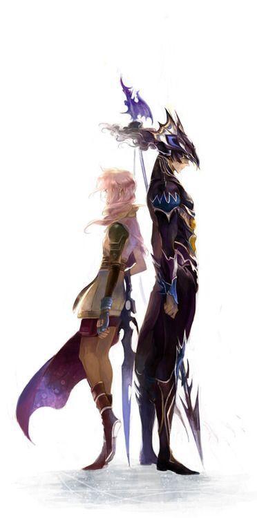 "Claire ""Lightning"" Farron as Kain Highwind. Final Fantasy XIII and Final Fantasy IV. Fan art."