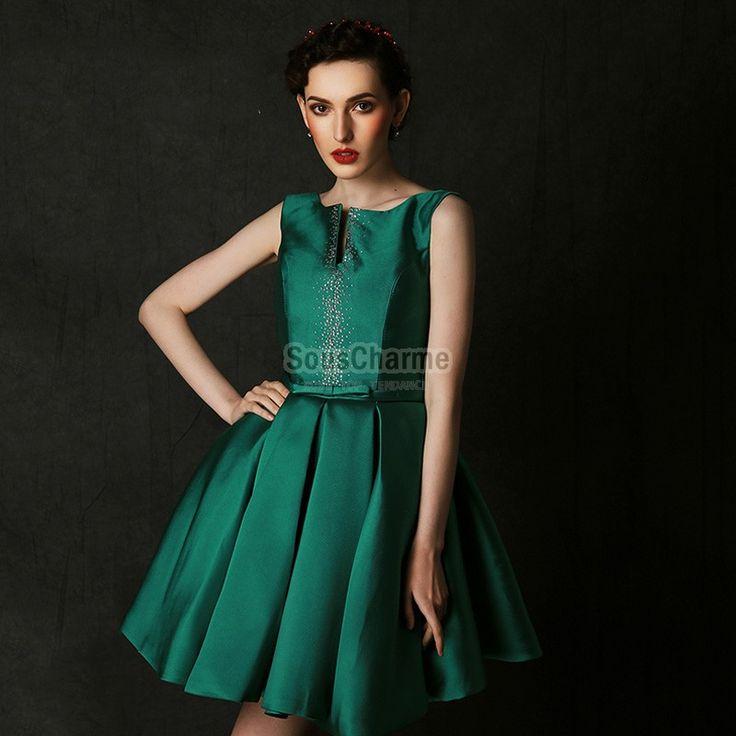 1ee3cc0eef5 Robe De Soirée Vert émeraude Pas Cher