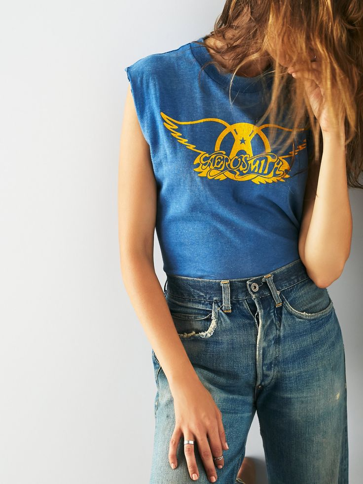 Vintage Loves Vintage Aerosmith Tour Tank at Free People Clothing Boutique