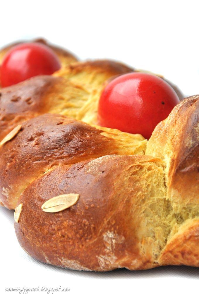 """Greek Easter """"Tsoureki"""" Bread"""
