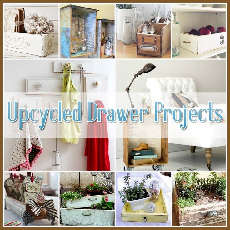 The Cottage Market: Upcycled Drawer Projects  http://www.thecottagemarket.com/2013/05/upcycled-drawer-projects.html