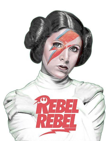Hommage à David Bowie (Space Oddity) Tribute to David Bowie Illustration digitale ? pas précisé, Artiste inconnu… La princesse Leia Organa d'Alderaan (Carrie Fisher), plus simplement appelée Princesse Leia, est un personnage de fiction, femme politique sensible à la Force dans l'univers de Star Wars Taotek Art – Communauté – Google+