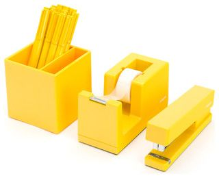 modern office desk accessories. starter set yellow 40 httpwwwhouzzcomphotos modern office desk accessories e