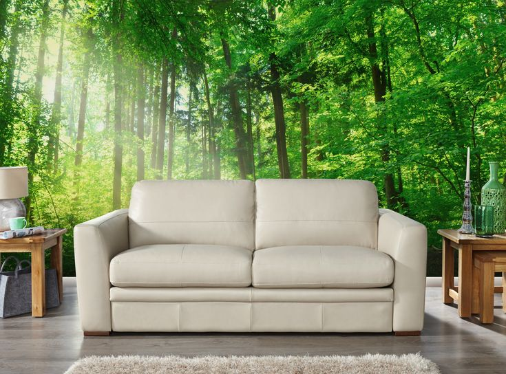 Create A Positive Atmosphere And Extend The Eye With This Green Forest Wall Mural