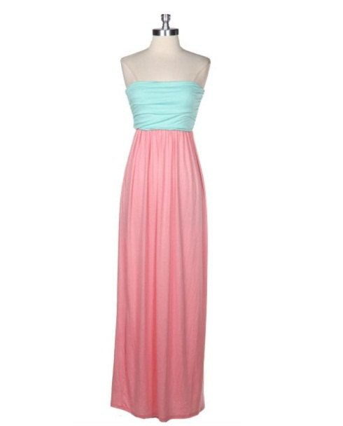 Gender reveal baby shower dress. I love it, I would wear it with a white rose crown & white heels, maybe pearls❤️beautiful