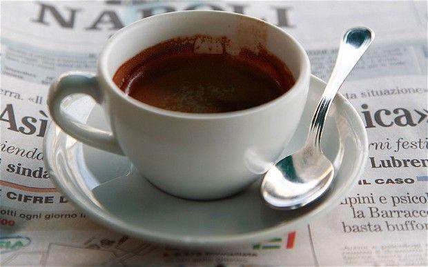 Samuel: coffee and newspaper