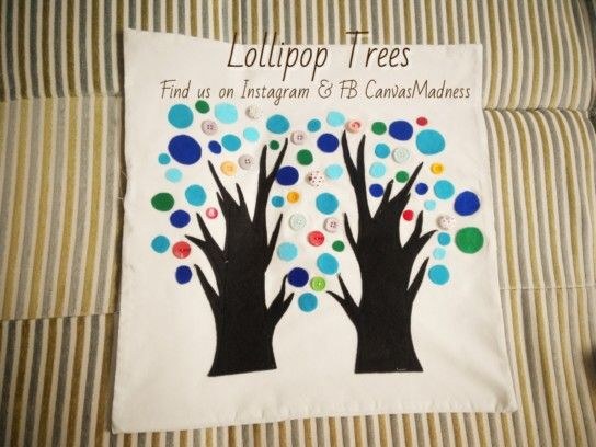 Lollipop Trees  Handmade and custom made cushion cover.  Size 50x50. Price IDR 130,000 (cover only)