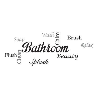 Home Decor Line Bathroom Quote Wall Decal Reviews