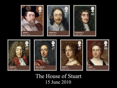 The House of Stuart - The Stuarts ruled Scotland for over two centuries before inheriting the English throne and established a reputation as both ambitious and accident-prone. Of nine monarchs, six of them died violently. They ruled Britain from 1603, when the Union of the Crowns caused James VI of Scotland to become James I of England. Stuart rule ended in 1714.