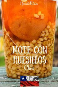 Mote con Huesillos it is probably one of the very few traditional drinks from Chile. Check more by clicking the Pin! #Chile #Foodie