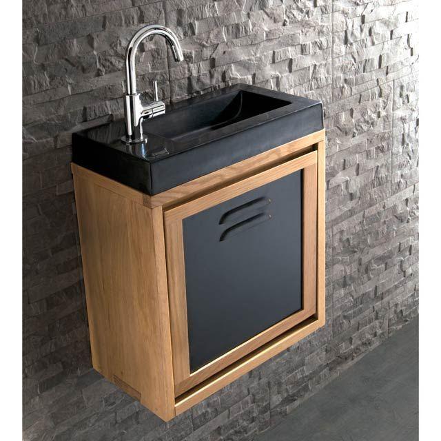 Optez Pour Le Style Industriel Avec Cette Table De Salon Ronde En Bois Massif Et Avec Images Deco Toilettes Lave Main Wc Lave Main Toilette