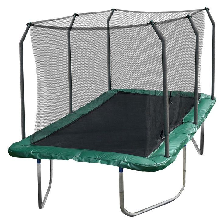 Skywalker Rectangle Trampoline with Enclosure - Green (14')