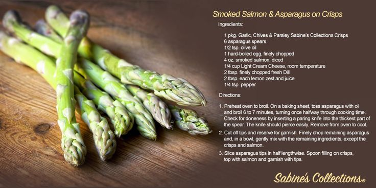 Asparagus season is nearing its end, but before it does, you must try this divine Smoked Salmon and Asparagus on Crisps recipe. Adults deserve snack time, too!