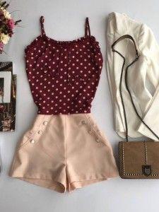 Compre Shorts Feminino Em Até 6x Sem Juros - Moda Feminina na loja Estação Store com o menor preço e ande sempre na moda.