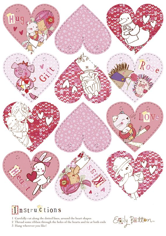 Make your own Emily Button love heart bunting.