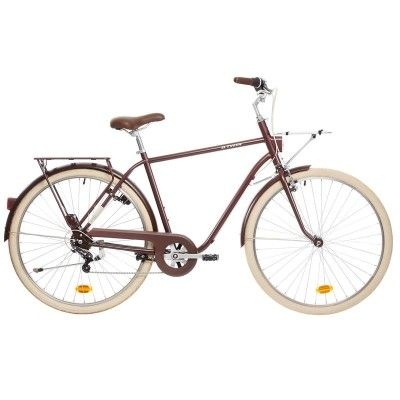GROUPE 6 Vélos, cyclisme - VELO VILLE ELOPS520 CADRE HAUT B'TWIN - Vélos Ville