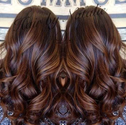 long brown hair with caramel balayage. Such a gorgeous rich color