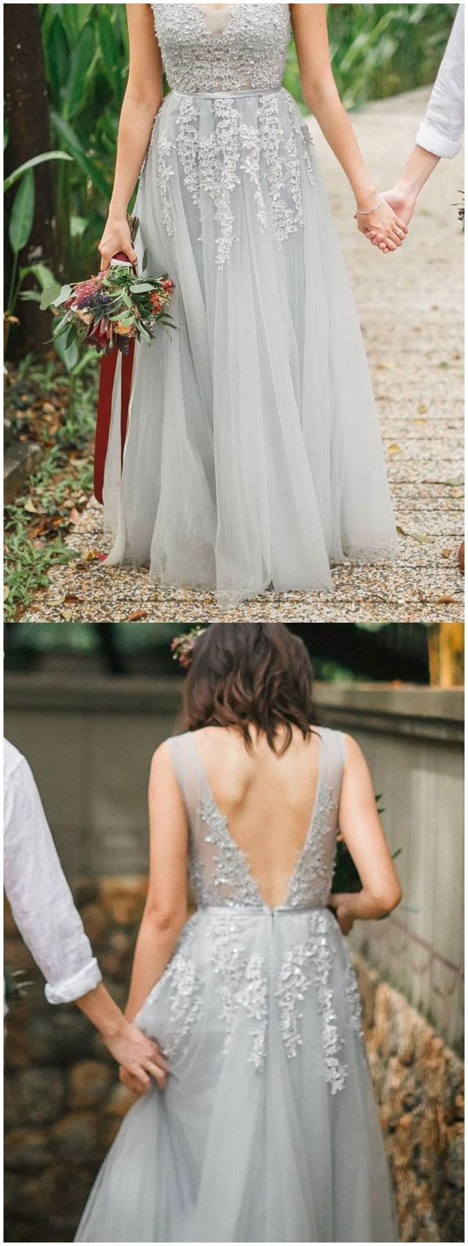 elegant long formal gowns with appliques, chic fashion prom party dresses with open back.