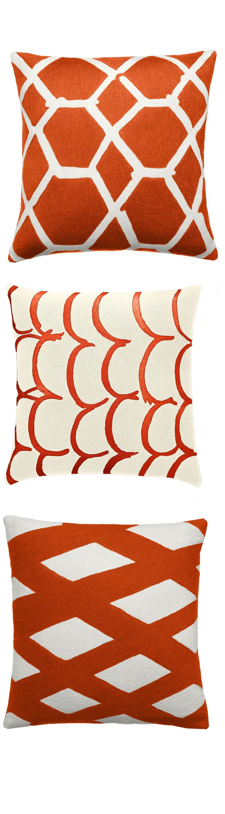 best  orange pillow cases ideas on pinterest  orange pillow  - orange pillows orange throw pillows orange modern pillows by instyle