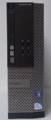 Dell Optiplex 390 Intel Pentuim G850 @ 2.90GHz 2GB RAM 250GB HDD Win 7 Pro