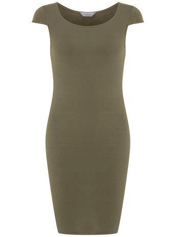 Petite khaki short sleeve tube dress - Weekend Treats  - Sale & Offers