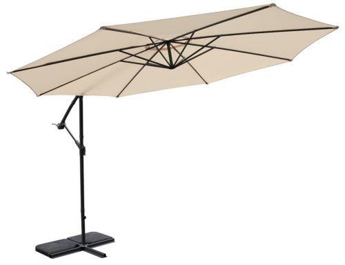 Rite-Season-Polyester-Round-Sunny-Banana-Umbrella-Beige-sun-cover-parasol