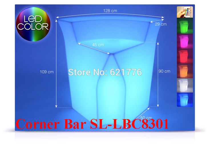 Luminous Remote control LED Bar Counter,PolyDeco Bar, Break Corner Bar Table,rechargeable Rundbar LED Bartresen light  furniture