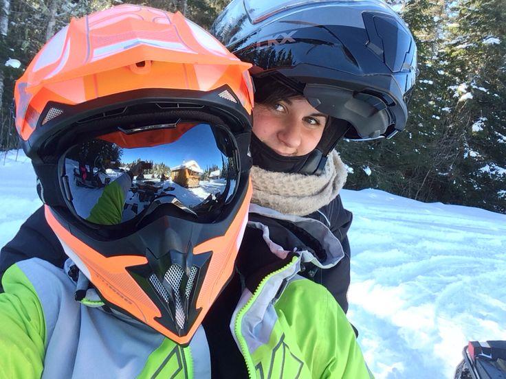 Snowmobile ride ! All CKX gear !