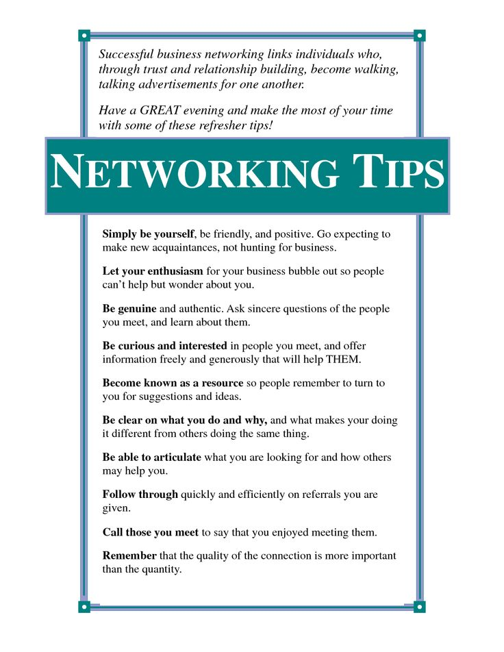 Job networking quotes