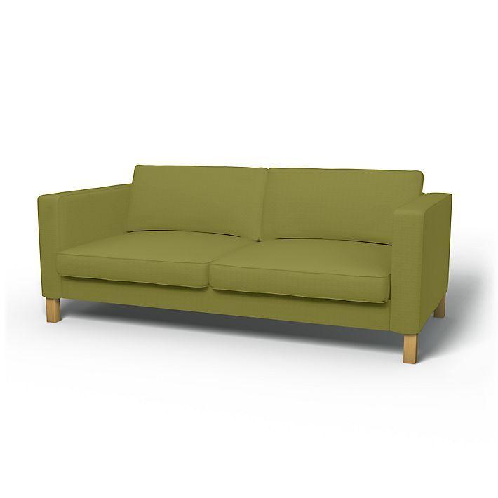 Karlstad, Sofabezüge, 3er, Regular Fit diesen Stoff anwenden Panama Cotton Bamboo Green