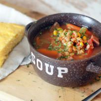 Slow Cooker Ham and Lentil Soup Recipe