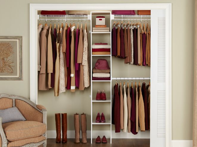 Laminate Closet Organizers Part - 25: 5-8u0027 Closet Shelving Kit W/Laminate Tower | Closet Organization | Rubbermaid