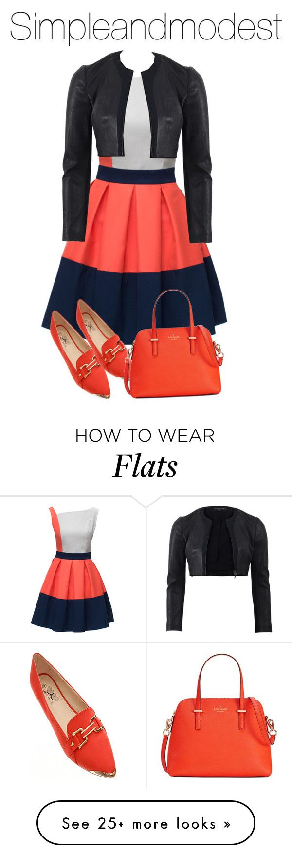 """Untitled #528"" by simpleandmodest on Polyvore featuring Lattori, Narciso Rodriguez and Kate Spade"