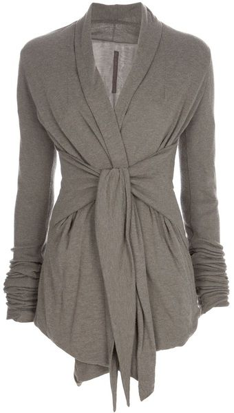 Heather grey wrap cardigan