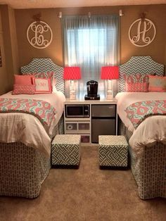 1.) Decorations Every girl needs decorations to complete her dorm room! Whether its picture frames on your desk or walls, collages, posters, or art work, there are plenty of ways to express yourself....