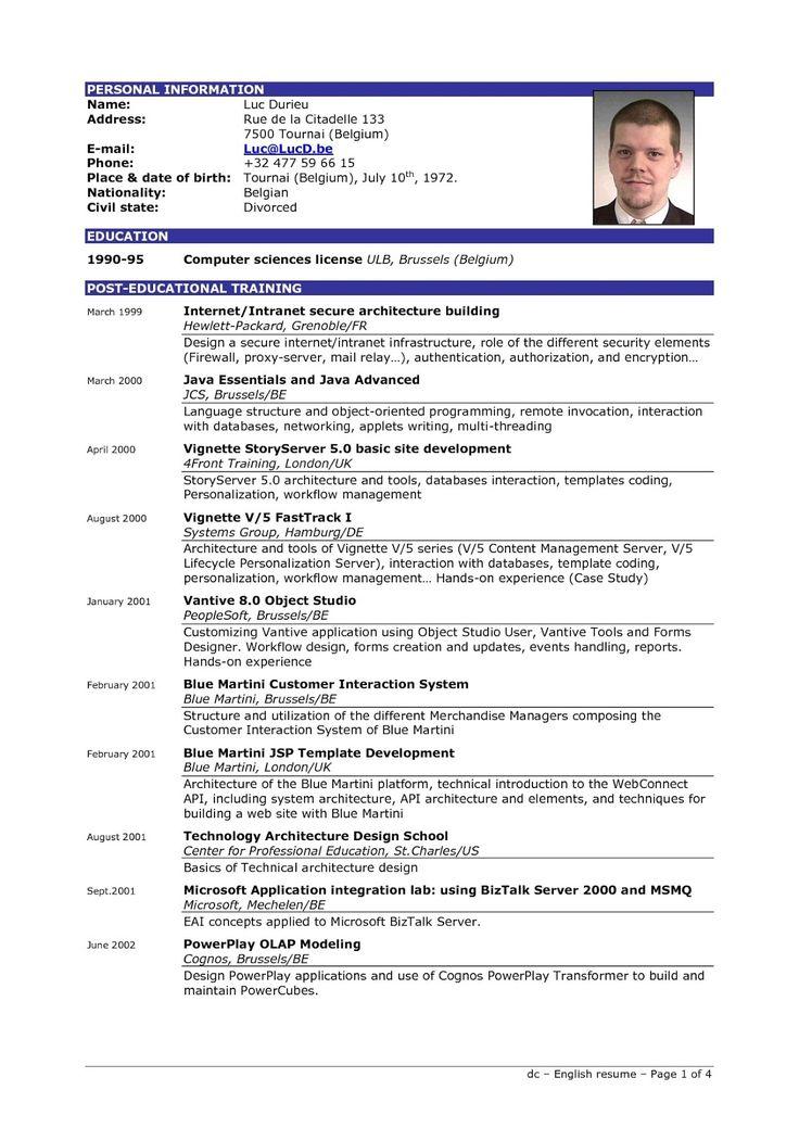 best 25  sample resume format ideas on pinterest