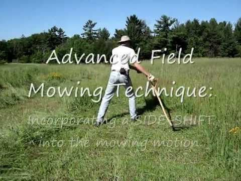 Scythe Workshop: How to Mow with a Scythe I think this will be my last pinned video about using a scythe... this one explains in captions how to mow. Very good!