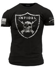 Infidel T-Shirt- Grunt Style Military Black Tee Shirt