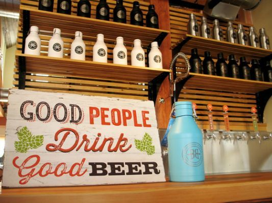 The growler filling station at