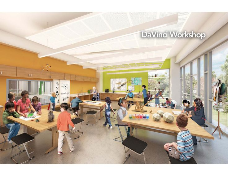 The DaVinci studio in the Chiaravalle North Wing is a STEAM-inspired maker space. STEAM is a movement championed by Rhode Island School of Design (RISD).   Interdisciplinary learning is a prominent differentiator of Montessori education. The DaVinci studio will be a thoughtfully-designed space to showcase the Art + Science intersection.  www.northwingproject.org