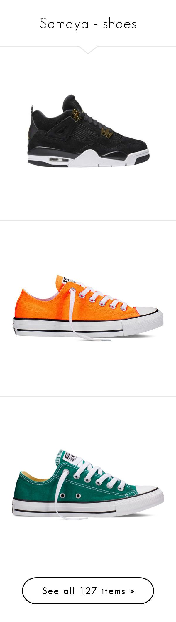 """""""Samaya - shoes"""" by those-families ❤ liked on Polyvore featuring samayamckeyla, shoes, sneakers, converse, orange, neon orange sneakers, neon orange shoes, star shoes, star sneakers and converse sneakers"""