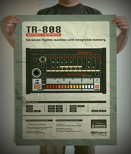 Roland TR-808 poster