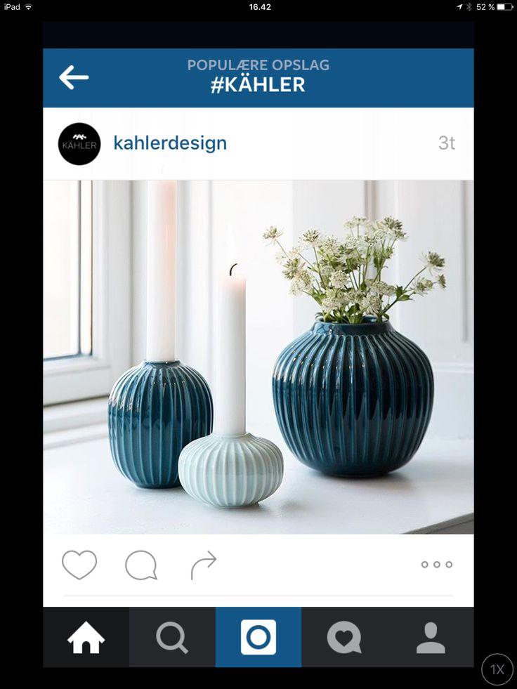 Skønne Hammershøj vaser og stager fra Kahlerdesign smukke i antracitgrå