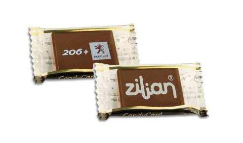¡Cree regalos con el logotipo de su empresa en una de chocolate increíblemente irresistible!