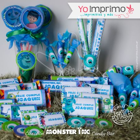 Monster Inc Candy Bar Yo Imprimo Ideas Cumplea 241 Os