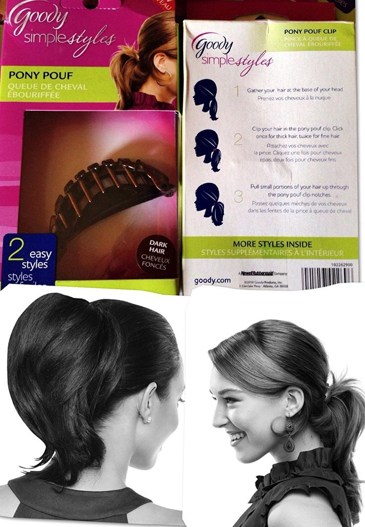 Pack of 2- Goody Simple Styles PONY POUF, Brunette/Dark Hair >>> Details can be found by clicking on the image. (Amazon affiliate link)