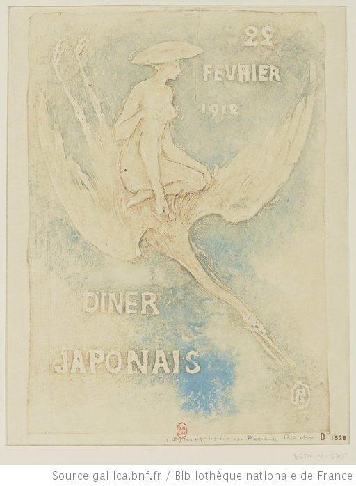 Dîner japonais 22 février 1912 : [estampe] / R [Pierre Roche] [monogr.] - 1